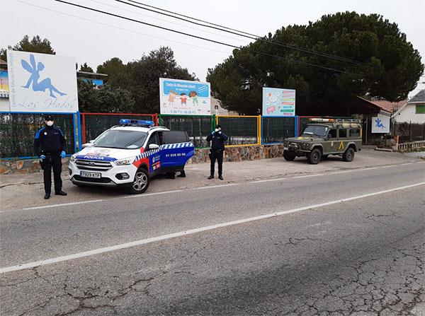 La actuación de la Policía local de Galapagar se salda con 52 denuncias en el fin de semana