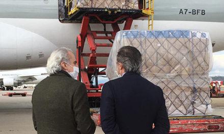 Llega a Madrid el avión desde China cargado con 58 toneladas de material sanitario