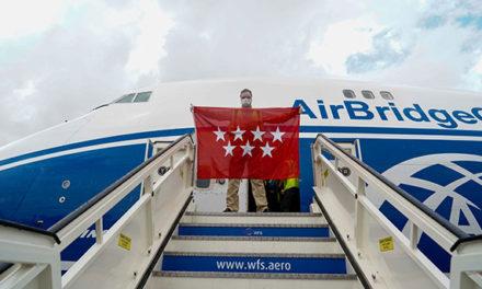 Llega a la Comunidad el cuarto avión con 79 toneladas de material sanitario