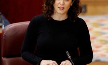 Díaz Ayuso anuncia un plan de ayudas para el sector de la hostelería