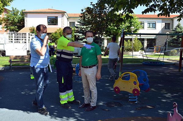 Guadarrama inicia la desinfección de los parques públicos para su apertura