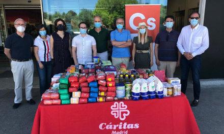 Ciudadanos Madrid recoge alimentos para Cáritas en varios municipios de la región