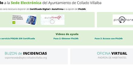 Los vecinos de Collado Villalba ya pueden empadronarse online