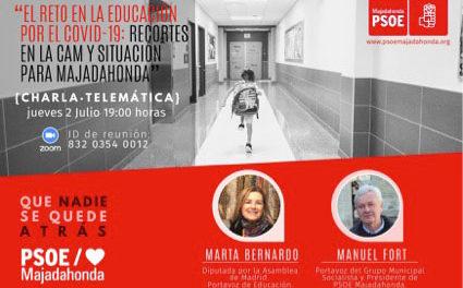 Charla-debate sobre educación publica madrileña: los socialistas denuncian grandes carencias