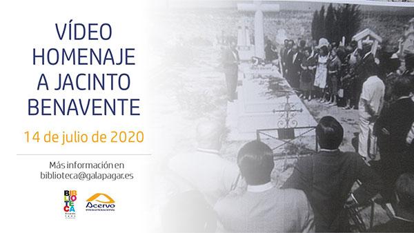 Acervo Intergeneracional y la Biblioteca de Galapagar piden participación para el vídeo homenaje a Jacinto Benavente