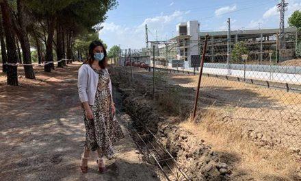 ADIF renovará el vallado del Monte del Pilar que linda con las vías del ferrocarril