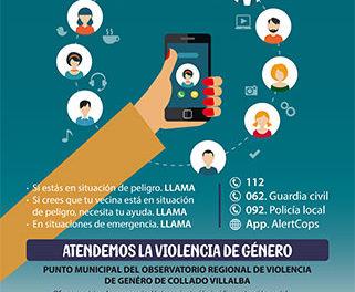 """Collado Villalba inicia la campaña """"A pesar de la distancia, estamos cerca"""", dirigida a las víctimas de violencia de género"""