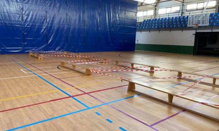 El Polideportivo de El Escorial modifica espacios y reduce aforos
