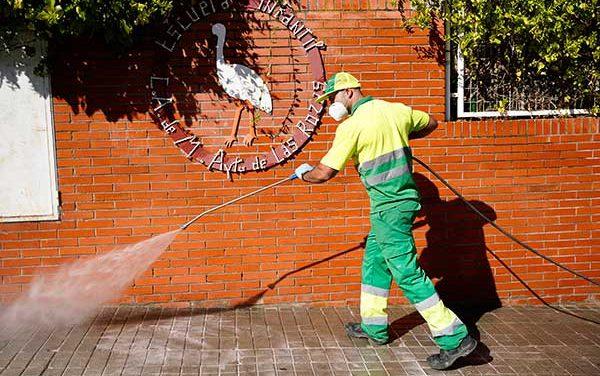 Plan especial de limpieza y desinfección para mejorar la seguridad de los centros escolares de Las Rozas