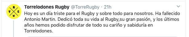 Antonio Martín Sánchez Rugby Torrelodones