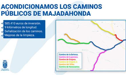 El Ayuntamiento acondicionará los caminos públicos de Majadahonda