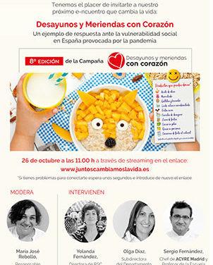 Desayunos y meriendas #ConCorazón para niños atendidos por Cruz Roja