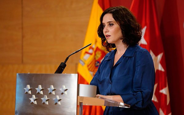 Díaz Ayuso reclama diálogo al Gobierno de la Nación y retira las medidas cautelares presentadas
