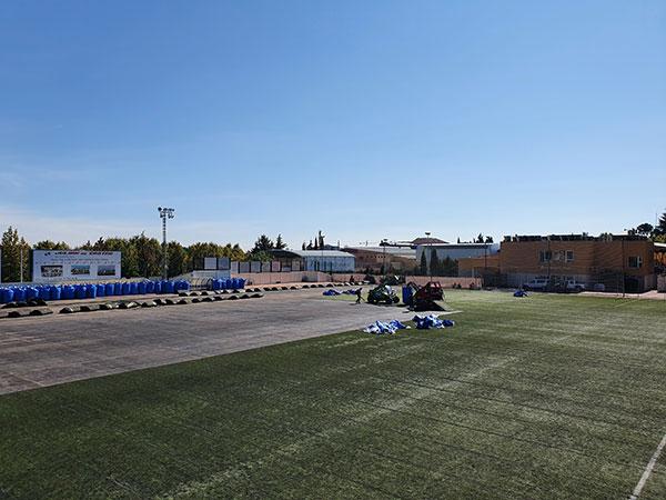Obras campo fútbol El Chopo