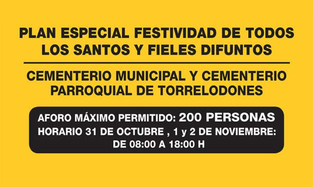 El Ayuntamiento de Torrelodones pone en marcha un dispositivo especial en los cementerios