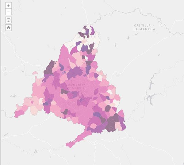 Guadarrama sobrepasa los 900 casos en tasa de incidencia y Collado Villalba desciende hasta los 469,54