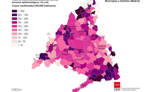 La tasa de incidencia en Collado Villalba vuelve a ascender hasta los 587,32 y Galapagar se sitúa en 580,88