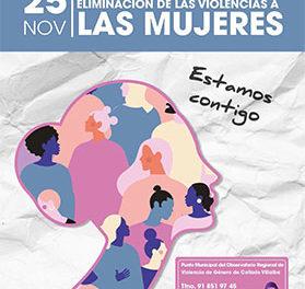 El acto institucional por el Día contra la violencia de las mujeres será virtual en Collado Villalba