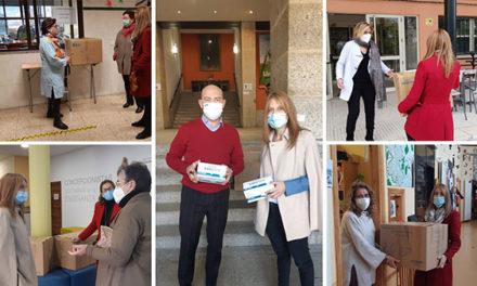 El Ayuntamiento de San Lorenzo entrega cerca de 24.000 mascarillas a centros educativos