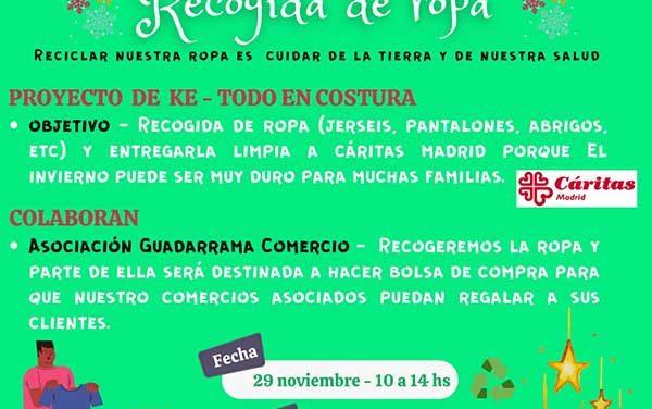 La Asociación Guadarrama Comercio premia con descuentos a quienes colaboren en la recogida solidaria de ropa