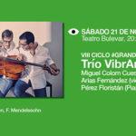 El Trío VibrArt actuará en el Teatro Bulevar dentro del ciclo #Grandesconciertos