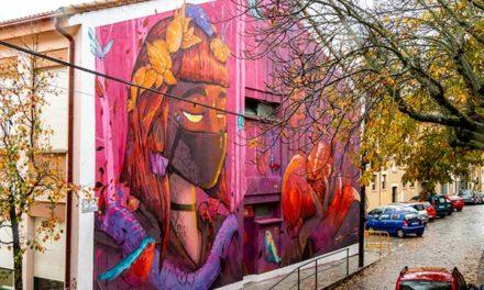 Arte urbano para decorar la fachada de la Casa de la Juventud de San Lorenzo