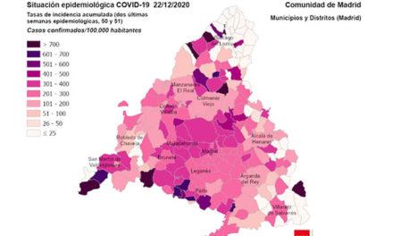 Suben los contagios en Navidad: Torrelodones registra 111 casos y se incrementan en casi todos los municipios