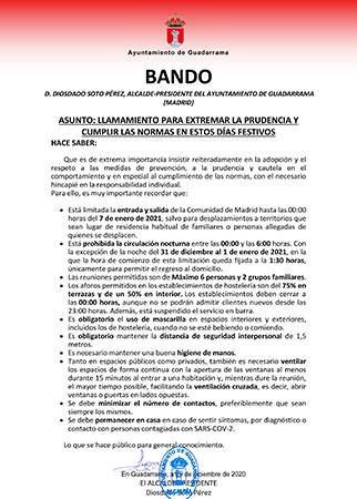 bando del alcalde de Guadarrama