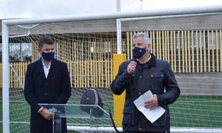 El viceconsejero de Deportes y el alcalde de Torrelodones inauguran el campo de rugby-fútbol Antonio Martín