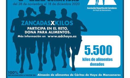 La carrera virtual de ADC Hoyo recauda más de 5.500 kilos de alimentos