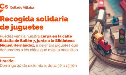 Ciudadanos Collado Villalba organiza una campaña de recogida de juguetes