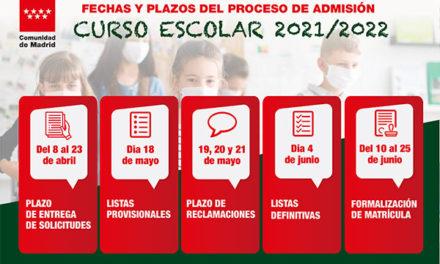 El proceso de admisión del curso escolar se adelanta en la Comunidad de Madrid