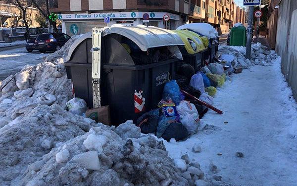 Unidas por Las Rozas exige sanciones a Urbaser por las deficiencias en la recogida de basuras durante la nevada