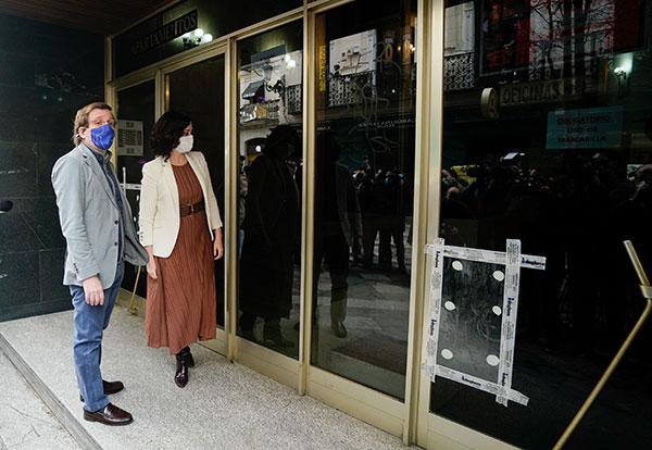 Díaz Ayuso cese Iglesias actos vandálicos Madrid