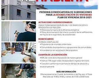 El Ayuntamiento de San Lorenzo subvenciona la rehabilitación de viviendas