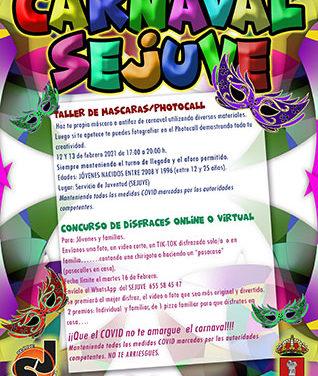 Concurso de disfraces y taller de máscaras para disfrutar de un Carnaval virtual en Guadarrama