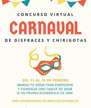 Concurso virtual de disfraces y chirigotas por Carnaval en Galapagar