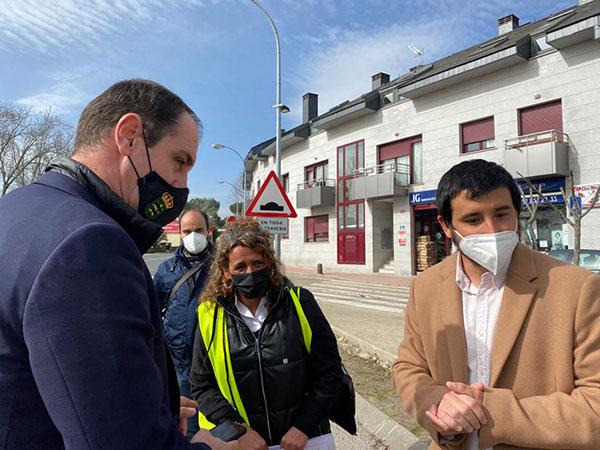 La directora general de Carreteras y el Gobierno de Alpedrete repasan las actuaciones previstas en la localidad
