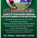 La Escuela infantil de la Fundación Atlético de Madrid arranca en Collado Villalba