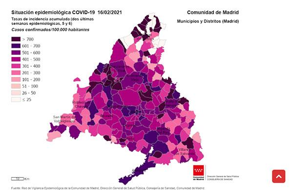 Collado Villalba descienden los casos hasta los 1.020,74 por cada 100.000 y suben ligeramente en Torrelodones