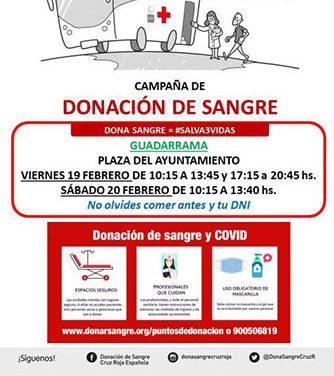 La Unidad móvil de donación de sangre visitará Guadarrama el viernes y el sábado
