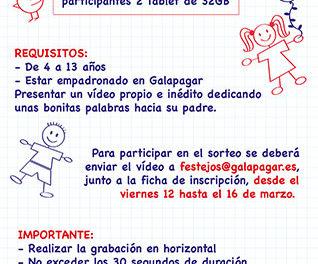 La Concejalía de Festejos de Galapagar organiza un sorteo infantil para el Día del Padre