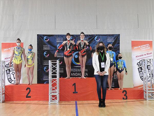 El Club Andraga de Gimnasia acrobática logra 5 medallas en el Open Autonómico de Andalucía