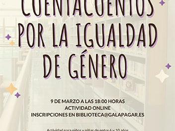 La Biblioteca Ricardo León organiza un cuentacuentos por la igualdad