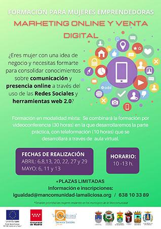 taller marketing online venta digital mujeres