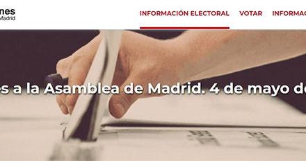 La Comunidad habilita una web para informar sobre las elecciones del 4 de mayo