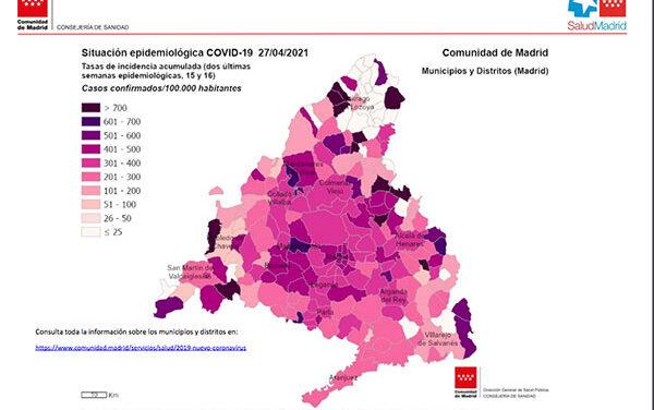 La incidencia más alta está en Las Rozas y Majadahonda