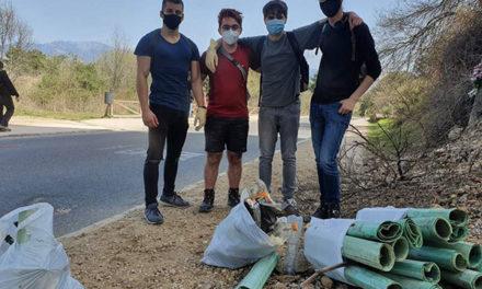 El Ayuntamiento de Guadarrama reconoce el ejemplo de cuatro jóvenes que han recogido basura en La Jarosa