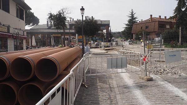 Torrelodones: Finalizan las obras de saneamiento en el entorno de la Plaza de la Iglesia