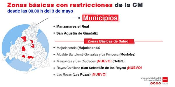 La zona básica de salud de Las Rozas tendrá restricciones de movilidad